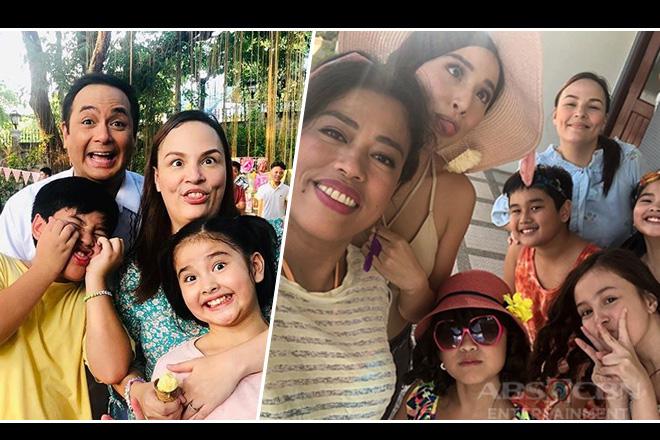 Nang Ngumiti Ang Langit cast bonding behind the cameras